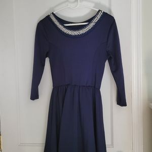 🦋3/$30🦋 French Atmosphere Beaded Pearl Dress